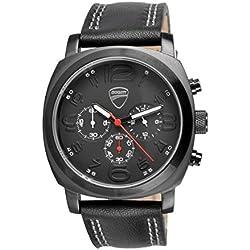 Ducati Total Black Quartz Chronograph Watch