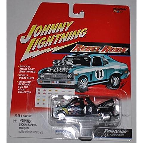 2000 Ford F-550 Tow-Nado (Black) - Rebel Rods - Johnny Lightning - Diecast Car by Johnny Lightning