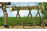 Florabest® Standfester Sägebock - sicheres & komfortables Säge, auch mit der Motorsäge