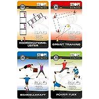Trainingskarten Stop Fitness Bundle Set mit Vier Trainingskartens/ätzen
