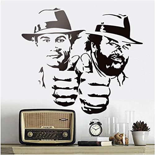 Wandaufkleber Lächerlich Lustig Charakter Porträt Vinyl Aufkleber Klassische Film Abbildung Wandbilder 65x57 cm