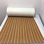 yuanjiasheng 90×240cm EVA Synthetic Boat Decking Sheet Yacht Marine Flooring Anti Slip Carpet With Backing Adhesive,Bevel Edge 18