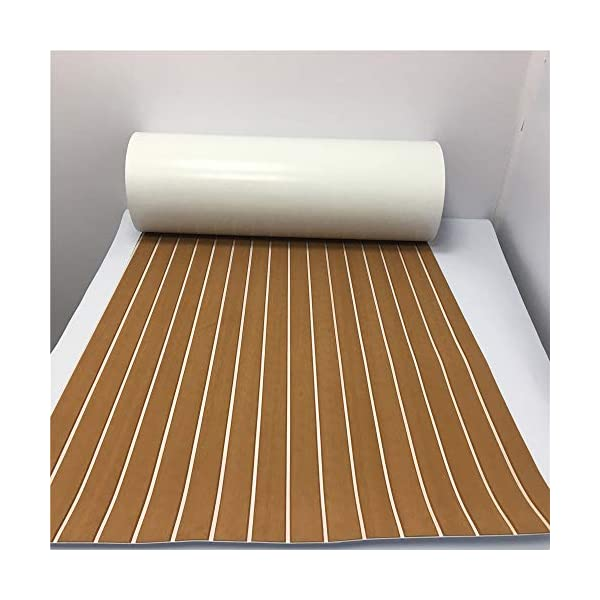 yuanjiasheng 90×240cm EVA Synthetic Boat Decking Sheet Yacht Marine Flooring Anti Slip Carpet With Backing Adhesive,Bevel Edge 9