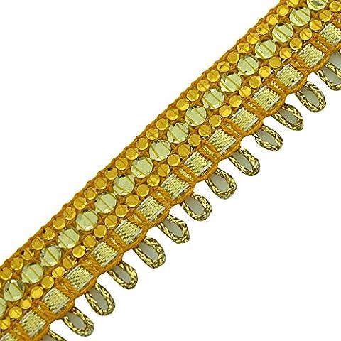 Oro étnico ajuste trenzado artesanal de la cinta de lentejuelas cortina de almohada de encaje Por T ...