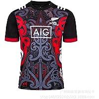 Aitry Camiseta de fútbol de Nueva Zelanda, Camiseta de Entrenamiento maorí Negra para Hombre, Sudadera, Camiseta de Apoyo del Equipo