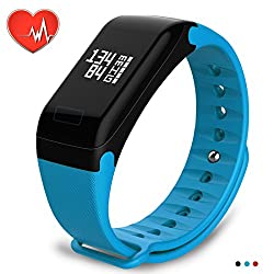 Wearpai Smart Band Heart Rate Monitor Fitness Activity Tracker Bluetooth Watch Step Calorie Distance Sleep Counter Wristband Pedometer Tracking Bracelet For Andriod & Ios (Blue)