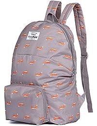 YFXOHAR Nylon Folding Backpack Folding Bag For Picnic Beach Travel GYM