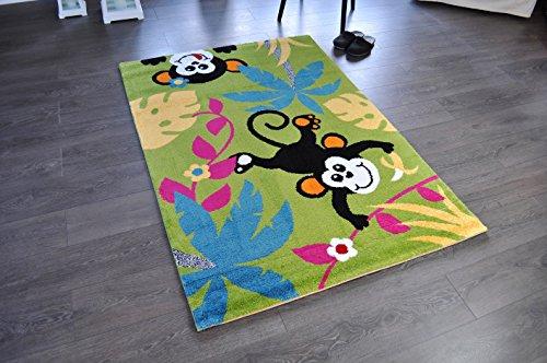 dschungel teppich Hochwertiger Spielteppich Kinderteppich Teppich Affe Dschungel TF-12 120 x 170