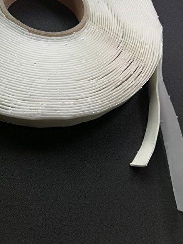 (0,48 €/m) weißes Butyl Butylband 18 Meter x 15 x 2 mm beidseitig selbstklebend Top Qualität