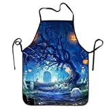Not afraid Unisex Don't Be Lazy Lock Edge Waterproof Durable String Adjustable Easy Care Cooking Apron Hen Apron For Women Men Chef