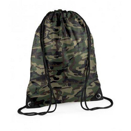 Bagbase - sacca a spalla per palestra (11 litri) (taglia unica) (mimetica giungla)