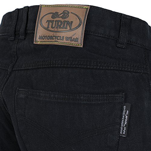 Mens Black Denim Dupont 280GSM Kevlar Motorbike Jeans With CE Armour – Great Size Range Of Waist/Leg Options