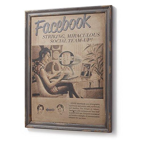 Kave Home Cuadro Molly Facebook 73 x 92 cm