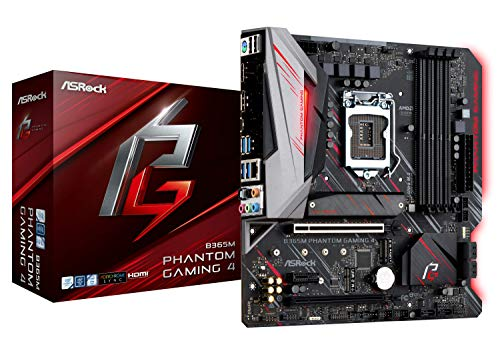 ASRock B365M Phantom Gaming 4 LGA1151/ Intel B365/ DDR4/ Quad Crossfirex/SATA 3/ USB 3.1/ m.2/ A/GbE/microATX Motherboard -