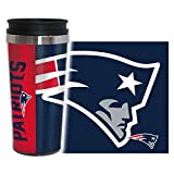 NFL New England Patriots Hype Travel Tumbler, 16-ounce, Blue