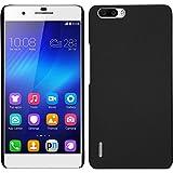 PhoneNatic Case kompatibel mit Huawei Honor 6 Plus - Hülle schwarz gummiert Hard-case + 2 Schutzfolien
