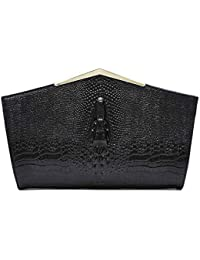 d55226cdc LFG Nuevo Bolso de Cuero para Damas de cocodrilo, Bolso de Cuero, Bolsos  Negros