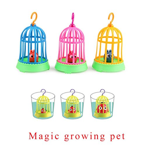 Großer Vogelkäfig Magic Expansion Spielzeug, mamum erweiterbar Süßer Magic Schraffur Growing Vogel Baby Pet Fun Ostern Geschenk Spielzeug für Kid (Geschenk Für Besondere Bedürfnisse Kind)