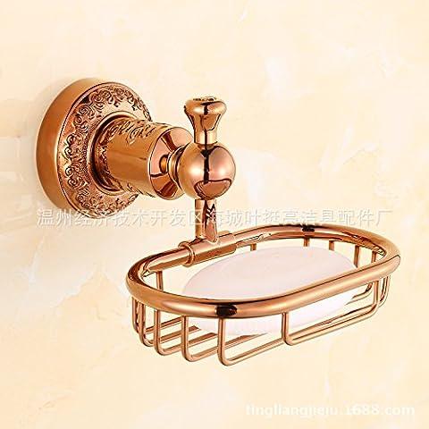 Unione di rame metallico ciondoli, scolpito in oro rosa portasapone, sapone NET