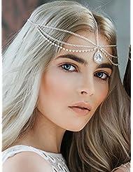 Kopfschmuck, Haarschmuck, Haarband, Metall mit Strass-Steinen, modisches Desgin, von Handmadejewelrylady