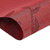 CHAOCHI Tischsets 6er Set Rutschfest Abwaschbar Platzsets Rot PVC Hitzebeständig Platzdeckchen Vinyl Tischmatten Schmutzabweisend Platzmatten für Zuhause Restaurant Küche Speisetisch,30 x 45cm - 5