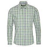 Almsach Herren Trachtenhemd Slim-Fit Slim-Line Trachten-Mode traditionell-kariert s-XXL viele Farben, Größe:XL, Farbe-Zweifarbig:Hellgrün/Tanne