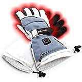 Glovii - Guantes Universal calefactables, Guantes de esquí con calefacción, Calentado por la Batería, tamaños: S, M, L, XL