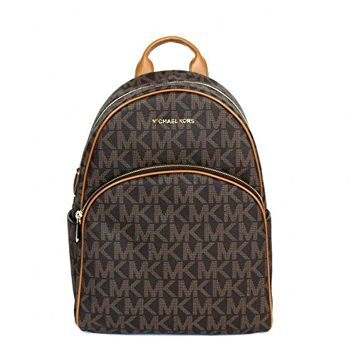 Michael Kors Abbey Jet Set Large Leather Backpack (Brown) …
