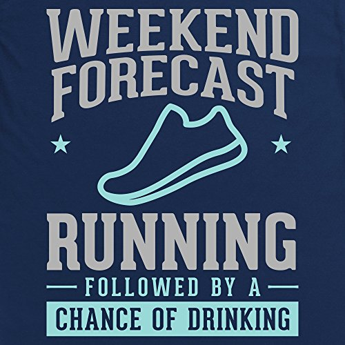 Weekend Forecast Running Langarmshirt Funny Novelty Gift, Herren Dunkelblau