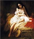 Wood print 80 x 90 cm: Esmeralda, 1839 by Charles Auguste Steuben / Bridgeman Images