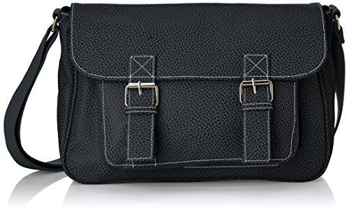 Paquetage - Bf, Borsa a tracolla da donna, nero (noir 001), Taille Unique