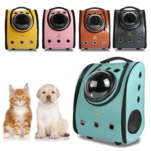 Mochila Cápsula para Mascotas, Mochila para Gatos, Perros, en forma de Burbuja, Bolsa del Animal con Grande Capacidad, Desmontable Impermeable Respirable para Gato, Perro, Mascota-Verde