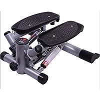 Preisvergleich für HS-Lighting Mini Stepper 2in1 Heimtrainer mit 2 Traningsbändern und Display Verstellbarer Fitnessgerät Farbauswahl (Schwarz)