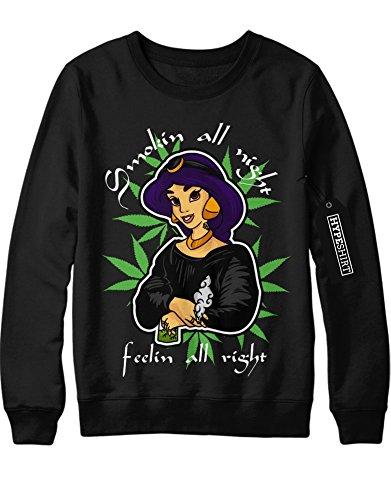 Sweatshirt walt disney film Princess Jasmine Aladdin 1001 nacht C836983 Schwarz (Cosplay Jasmine Kostüm)