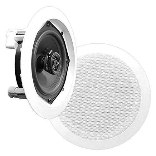 Pyle pdic61rd 6,52-Wege-Decken-Unterputzkabel Full Range Paar Lautsprecher System (6.5 Pyle)