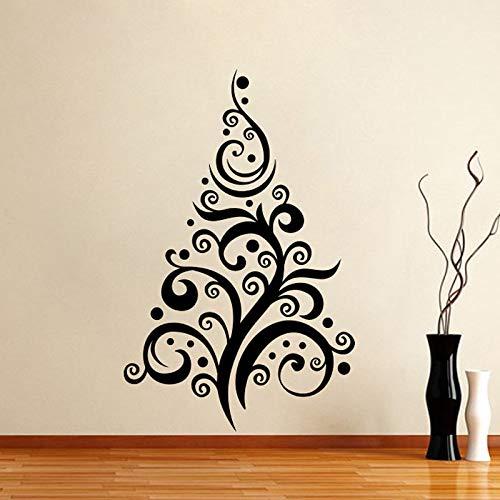 JXweilele Árbol de Navidad pegatinas de pared sala de Estar extraíble creativo año Nuevo pegatinas de pared decoración del hogar 69 cm x 43 cm