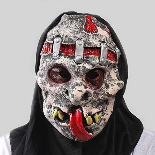 Halloween Entertaining Maske Latex Horror Maskerade Maske Scary Zunge Heraus Teufel Requisiten Unisex 1 Stücke Stücke Erwachsene Geschenk,Black,Onesize