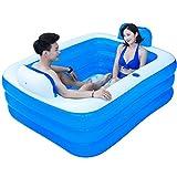 HAO SHOP Aufblasbare Badewanne - Dick König Kinder Pool Faltbare Kunststoff Badewanne Erwachsene Badewanne Geeignet für Badezimmer Schlafzimmer Garten Pool (Größe : 1.5M)