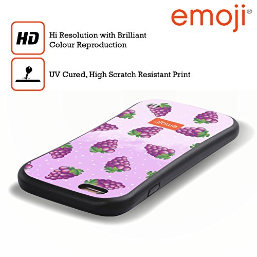 Ufficiale Emoji Limoni Frutti Case Ibrida per Apple iPhone X Uva
