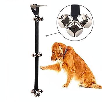 Sonnette pour chien pour dressage de chien et Housebreaking votre chien Doggy. 3,6cm Bell avec Doggie Sonnette et d'apprentissage de la propreté pour chiots Guide d'instructions