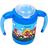 Gurukripa Baby Cute Stylish Bpa Free Unbreakable Sippy Cup (Sipper Kids Mug )Hard Spout Infant PP Water/Juice Training Gravity Sipper Cup With Handles & Dust Free With Handel (BLUE)
