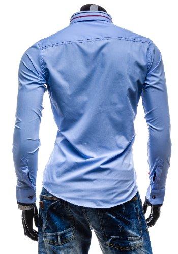 BOLF - Chemise casual - Manches longues – Élégant – BOLF 4707 – Homme Bleu
