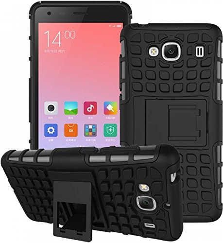 Tough Hybrid Flip Kick Stand Spider Hard Dual Shock Proof Rugged Armor Bumper Back Case Cover For Samsung Galaxy S3 Neo (BLACK)