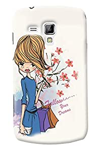Fuson Cute Girl Back Case Cover for SAMSUNG GALAXY S DUOS 2 S7582 - D3780