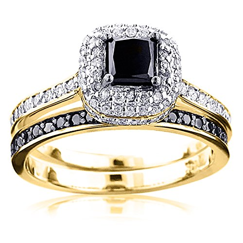 luxurman-10k-white-black-diamond-unique-bridal-engagement-ring-set-yellow-gold-size-65