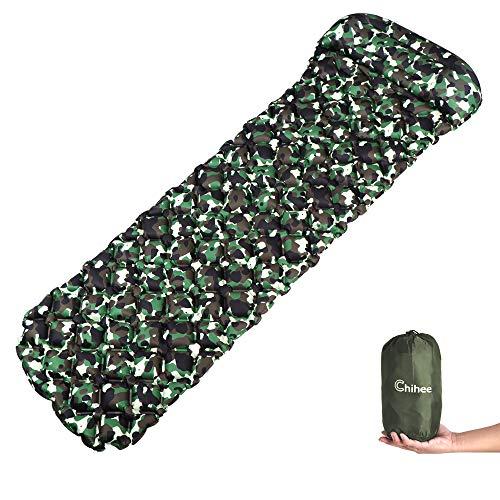 Chihee aufblasbar Sleeping Pad und Kopfkissen Greencamo -