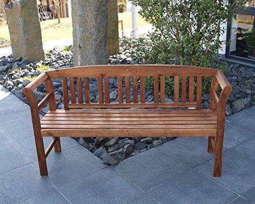 Gartenbank Sitzbank Parkbank Gartenmöbel 3 Sitzer 157 cm Akazien Holz geölt FSC NEU 98216