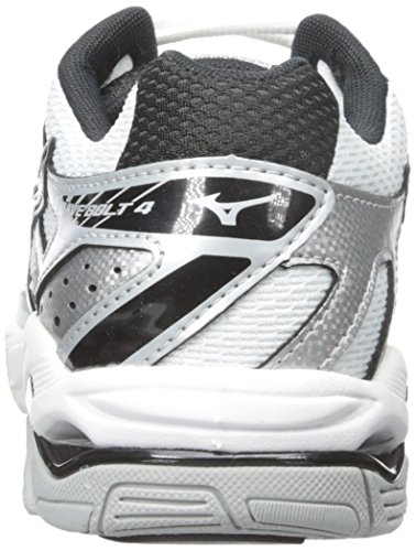 Mizuno Wave Bolt 4 Synthétique Baskets White-Black-Grey