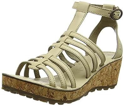 FLY London Damen GIVO942FLY Wedge Sandals, Elfenbein (Cream 004), 40 EU