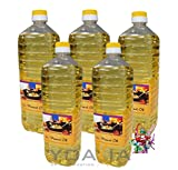 5er Pack 100% Erdnuss-Öl [5 x 1000ml] Erdnussöl ~ Peanut Oil ~ Wok Öl + ein kleines Glückspüppchen - Holzpüppchen